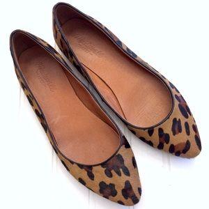 Madewell Sidewalk Skimmer leopard print flats
